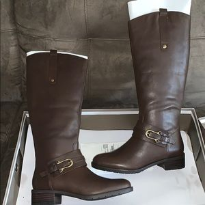 NEW Brown Leather Riding Boots
